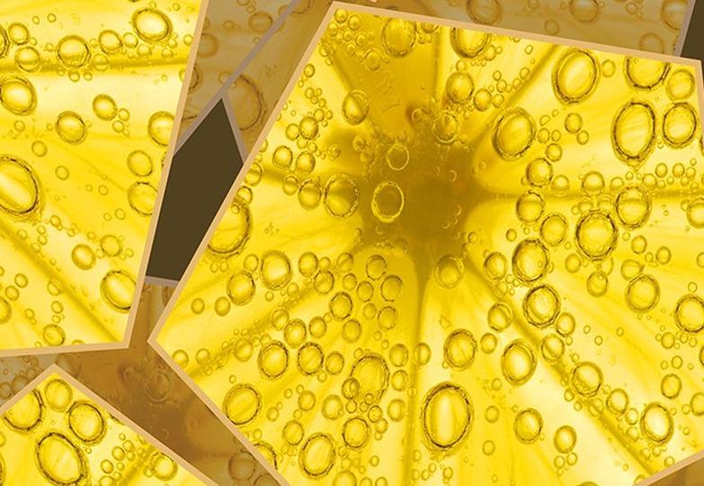 Стеновые панели Ламинат принт - 2055 Брызги апельсина