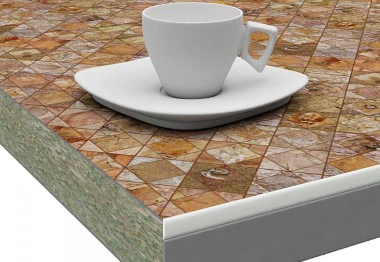Столешницы искра - Фоссил кромка 3D- Acryl белый