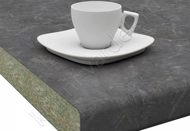 Столешницы Кристалл Вардек - Мрамор черный,  U завал: 40мм- 4698 руб., 26мм- 3202 руб.