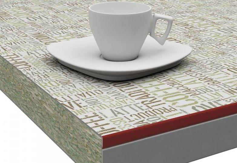 Столешницы искра - Латте, 3D- Acryl бордовый