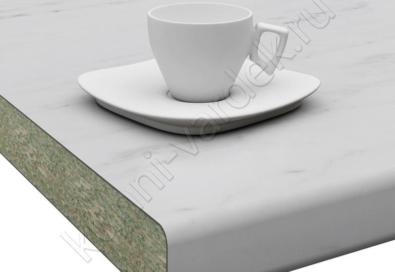 Столешницы Кристалл Вардек - Мрамор белый,  U завал: 40мм- 4698 руб., 26мм- 3202 руб.