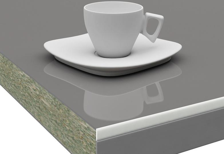 Столешницы Pro-deco - Графит кромка 3D-Acryl белый