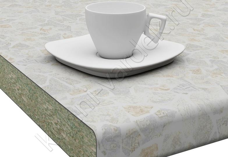 Столешницы Кристалл Вардек - Мейсен ваниль,  U завал: 40мм- 4698 руб., 26мм- 3202 руб.
