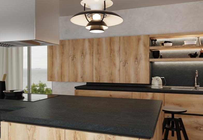 Столешницы линия Elegance Premium - 5045/Bst (Камень) Black stone