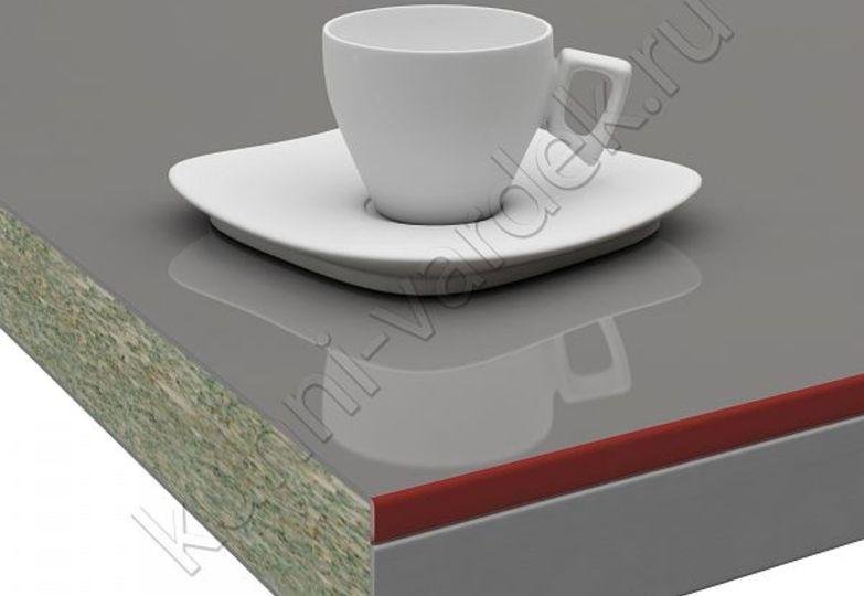 Столешницы Pro-deco - Графит кромка 3D-Acryl красный