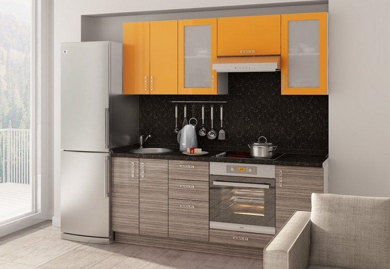 Кухня Витрум - Корфу + оранжевый глянец