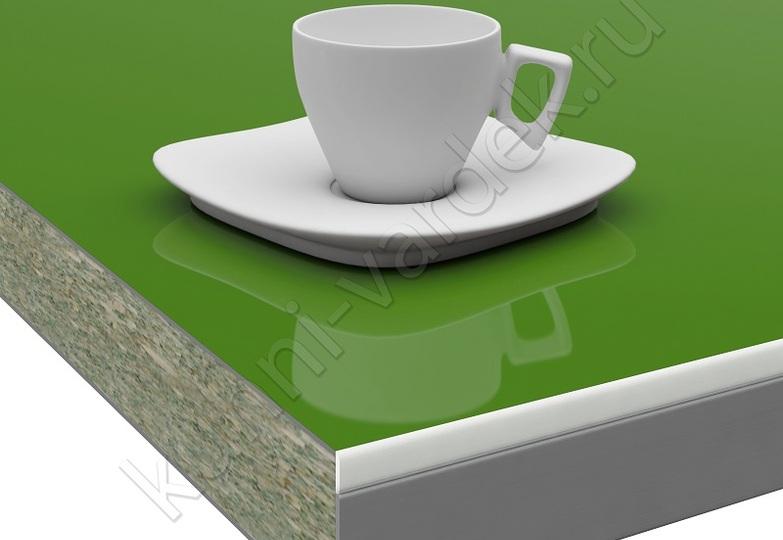 Столешницы Pro-deco - Зеленый HPL кромка 3D-Acryl белый