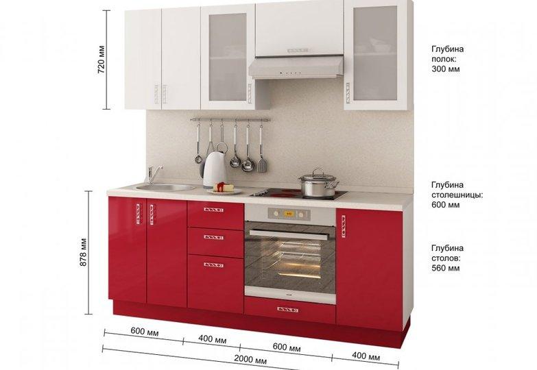 Кухня Витрум - Размеры Витрум